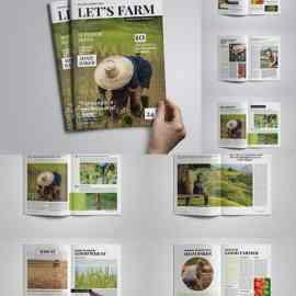 Let's Farm Magazine Template E3KCZJZ Free Download