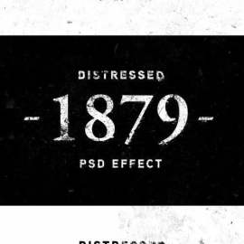 Old Distressed Text Effect 383333142 Free Download