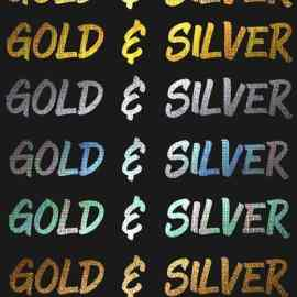 Silver & Gold Textures Styles for Photoshop Free Download