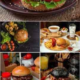 Burgers fast food set stock photo Free Download