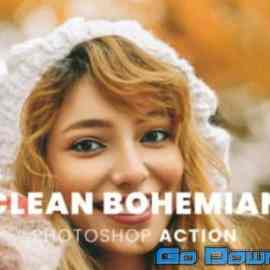 Clean Bohemian Photoshop 456 Action Free Download