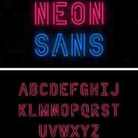 Neon Sans Display Font Free Download
