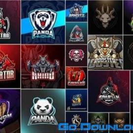 100 Bundle mascot logo vector design vol 2 Free Download