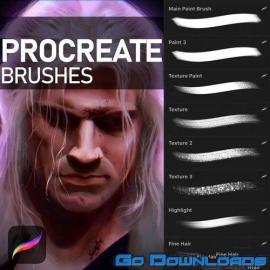16 Digital Painting Brushes for Procreate Free Download