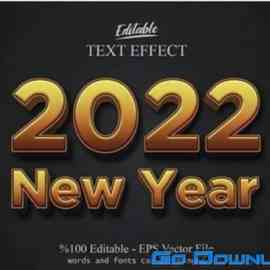 2022 New year Merry christmas editable  Free Download