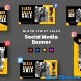 Black Friday Sales Social Media Banner Free Download