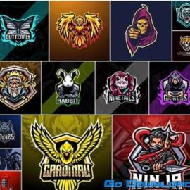 Bundle mascot logo vector design vol 13 Free Download