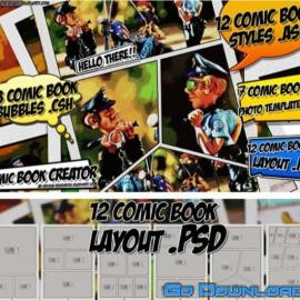 Comic Book Creator Pack for Photoshop Free Download