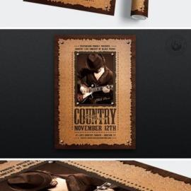 Country Music Flyer Template V7 Free Download