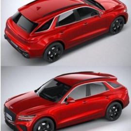 Genesis GV70 Sport 2020 3D Model Free Download