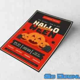 Halloween Sale promo Flyer Template Free Download