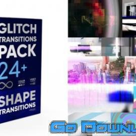 Videohive Glitch Transitions Pack 4k 34115526 Free Download