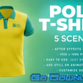 Videohive Polo T Shirt 5 Scenes Mockup Template Animated Mockup Premiere 33877905 Free Download