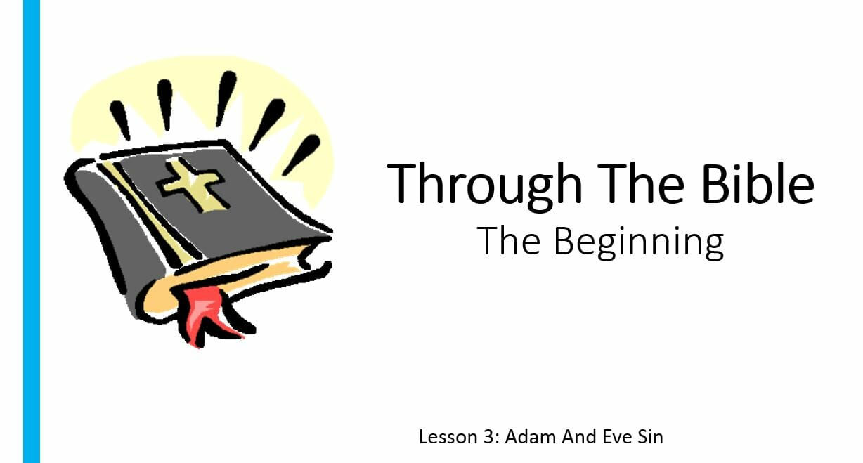 The Beginning (Lesson 3: Adam And Eve Sin)