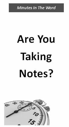 Are You Taking Notes?
