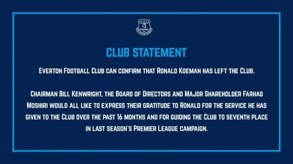 Déclaration officielle d'Everton