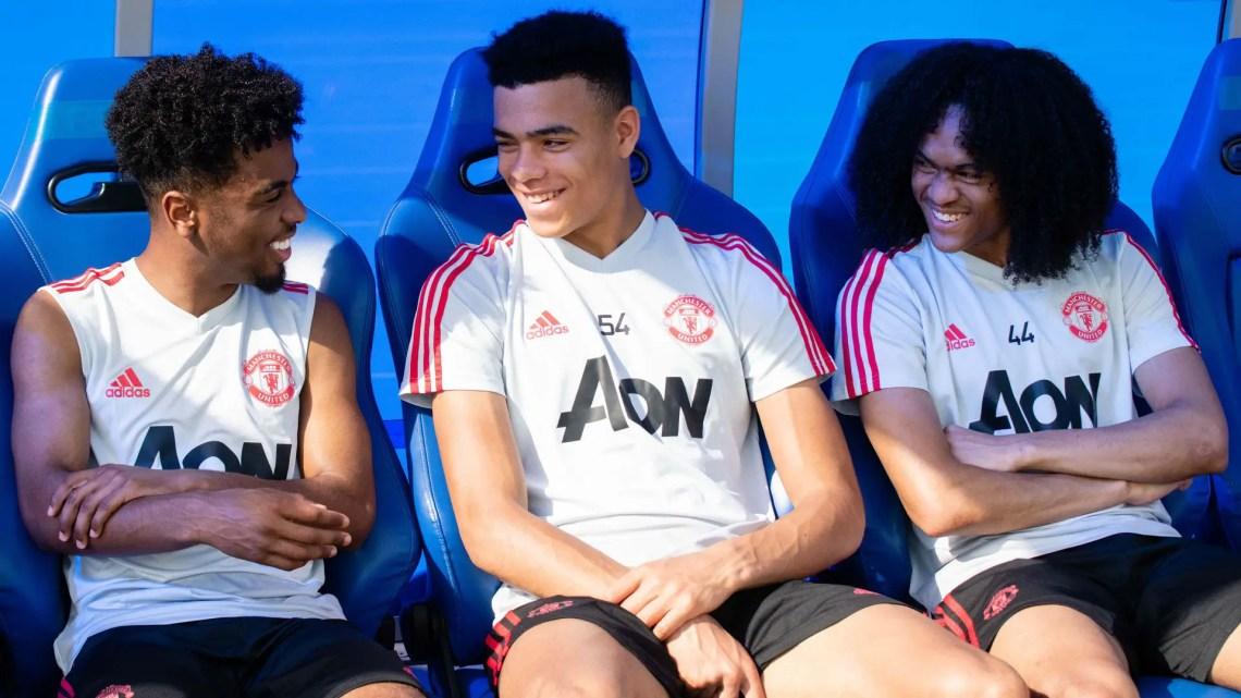 Angel Gomes, Mason Greenwood et Tahith Chong