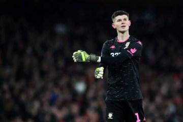 Le jeune Illan Meslier, titularisé dans les cages du Leeds de Marcelo Bielsa contre Arsenal. (Crédits: David Klein/Sportimage/Icon Sport)