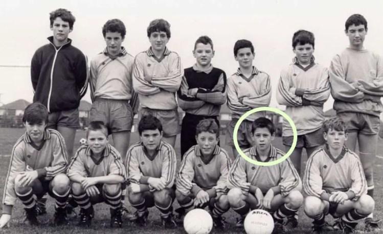 Un tout jeune Colin Farrell avec Castleknock Celtic