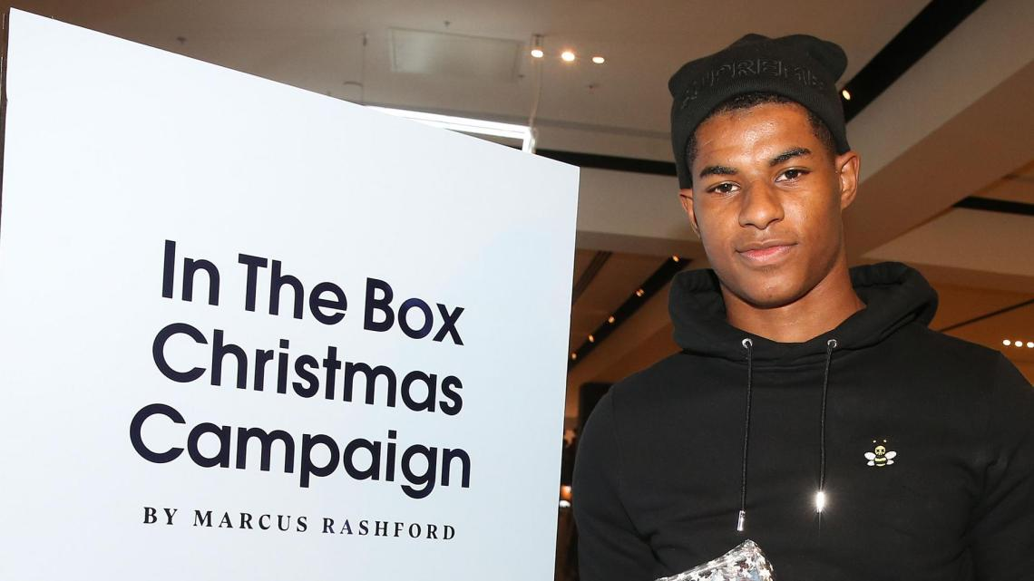 Marcus Rashford durant sa campagne « In the Box ». Crédits : manutd.com