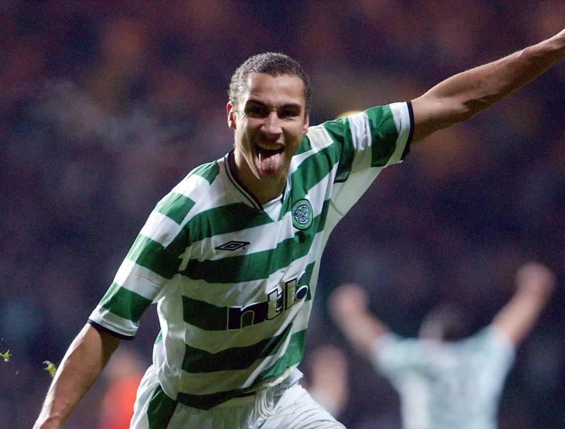 """La fameuse """"tongue celebration"""" de Larsson au Celtic"""