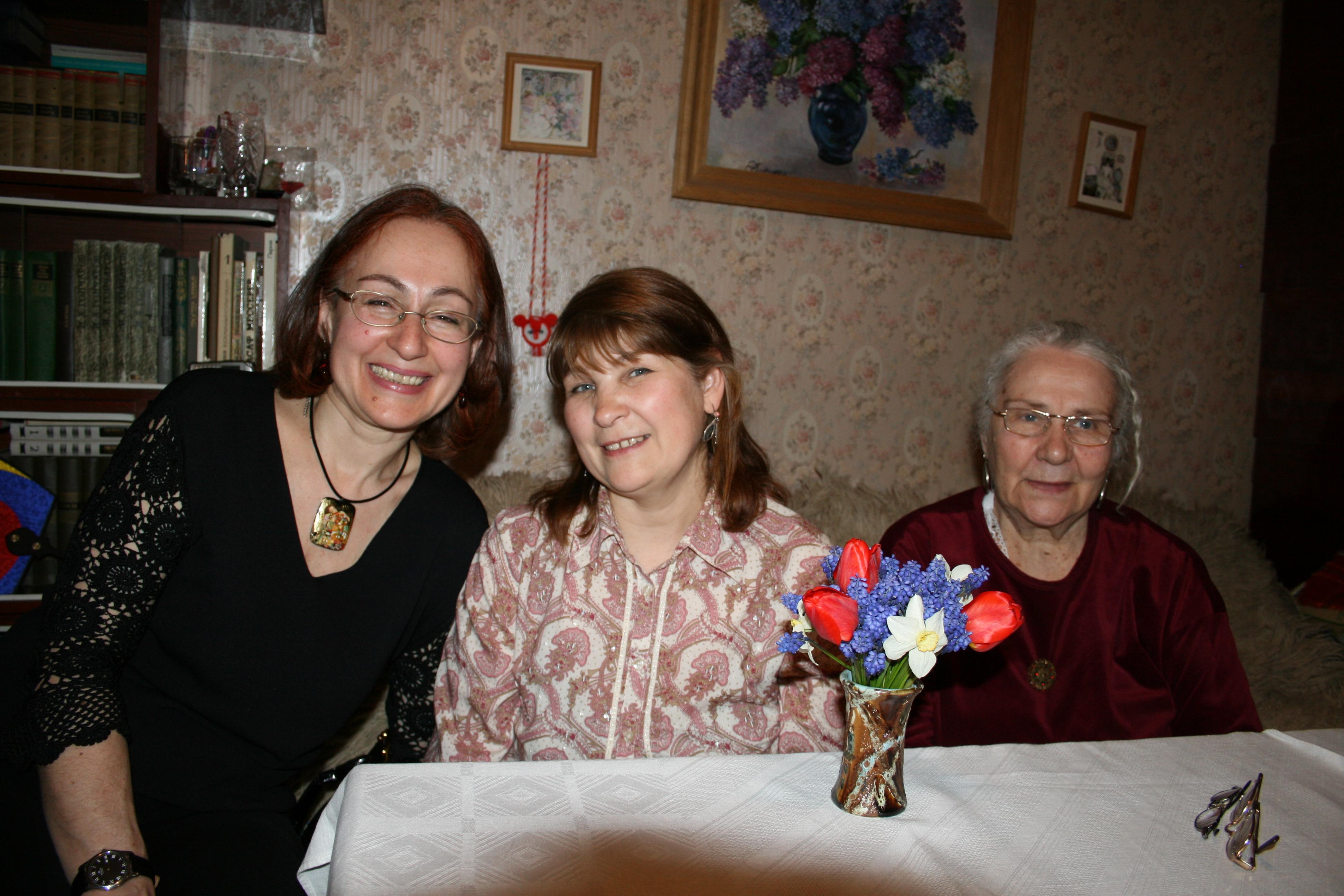 Irina, Rya, Mama Luba, our Sisters in Volgograd
