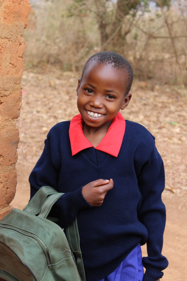 A happy newly sponsored child! Sponsor a child TODAY and change a LIFE!