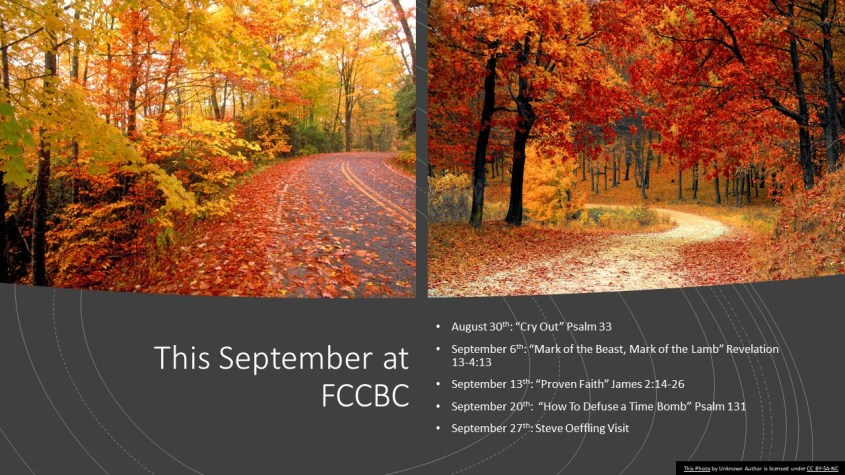 September Sermon Schedule PIC