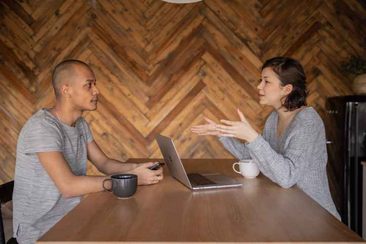young diverse colleagues working remotely together