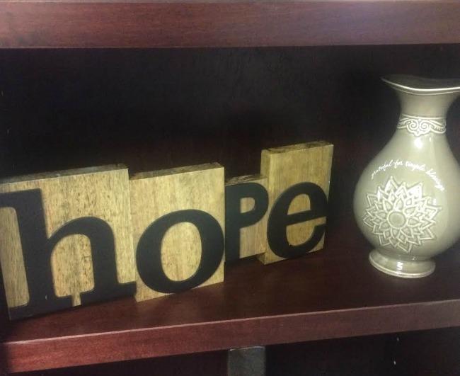 Letterpress Hope Dayspring