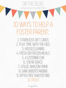 Foster Care - Asking For Help As A Foster Parent - 10 ways to help