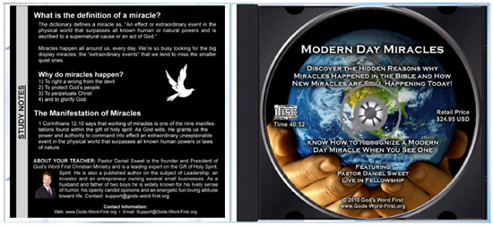 Modern Day Miracles Bible Study Lesson Inside Audio CD