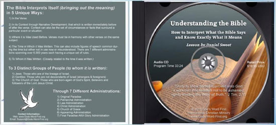 Understanding the Bible inside Audio CD