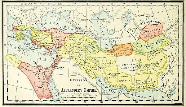 Persian Empire Bible Map