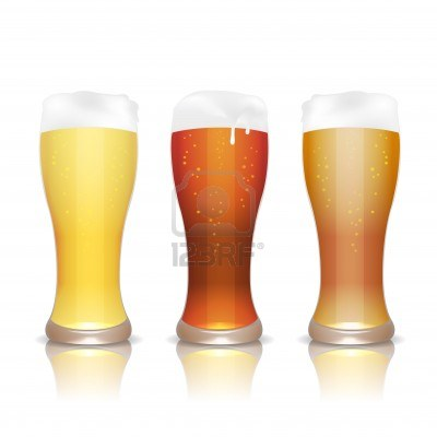 12763315-light-dark-and-unfiltered-beer-in-glasses-with-reflection-isolated-on-white