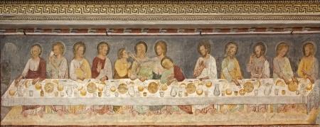 Den Ultimate Cena. Fra det 13 århundre, Basilica di Santa Maria Maggiore, Bergamo