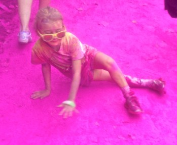 My niece after Colour Me Rad