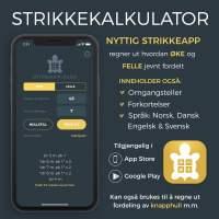 App: Strikkekalkulator