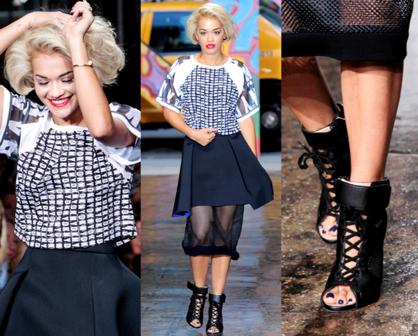 RITA ORA - DKNY PRIMAVERA-VERANO 2014 | NEW YORK FASHION WEEK