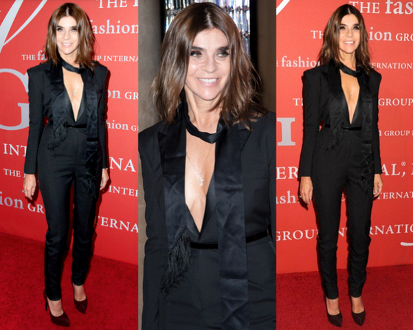 CARINE ROITFELD con jumpsuit de estilo tuxedo - 30TH NIGHT OF STARS GALA