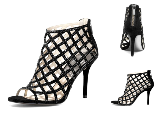 MICHAEL Michael Kors Yvonne Crystallized Cage Bootie, $225