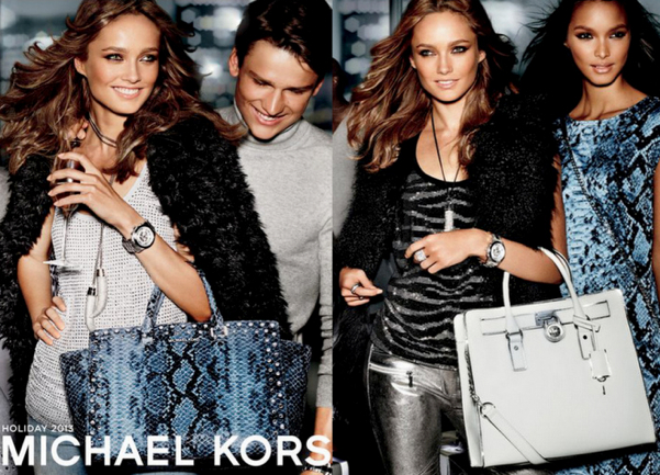 MICHAEL Michael Kors Faux-Fur Coat, $250 - MICHAEL Michael Kors Zebra-Stud Tank, $89.50 - MICHAEL Michael Kors Metallic Leather Moto Pants, $695 - MICHAEL Michael Kors Studded Python-Print Dress, $150