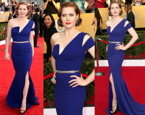 AMY ADAMS in ANTONIO BERARDI - LAS MEJOR VESTIDAS DE LOS 2014 SAG AWARDS