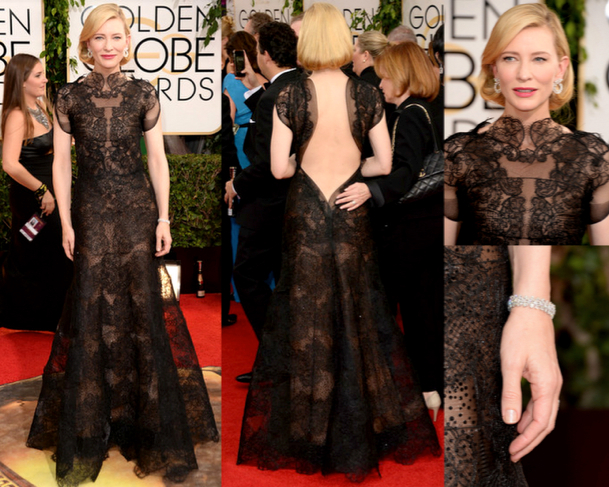 CATE BLANCHETT in ARMANI PRIVÉ COUTURE - 71st ANNUAL GOLDEN GLOBES AWARDS 2014