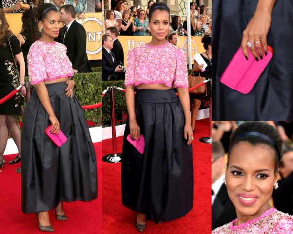 KERRY WASHINGTON in PRADA - LAS MEJOR VESTIDAS DE LOS 2014 SAG AWARDS