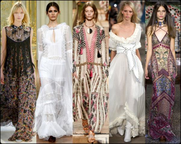 boho chic, vestidos boho, gipsy chic, tendencias primavera-verano 2017, tendencias, tendencias milan fashion week, milan fashion week, trends spring 2017, trends milan fashion week, trends