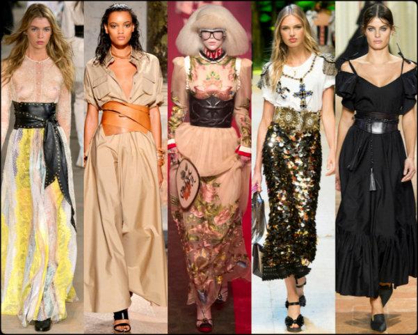corset belt, tendencias primavera-verano 2017, tendencias, tendencias milan fashion week, milan fashion week, trends spring 2017, trends milan fashion week, trends