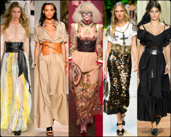 corset belt, tendencias primavera-verano 2017, tendencias, tendencias milan fashion week, milan fashion week, trends spring 2017, trends milan fashion week, trends