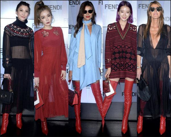fendi rockoko, botas rojas, red boots, streetstyle, fashion weeks, boots streetstyle
