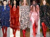 botas rojas, red boots, trend, tendencia, designers, diseñadores